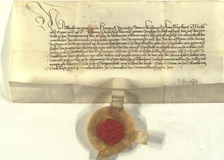 Urkunde aus dem 17 Jh. zur Ausschank von Bier im Wiener Bürgerspital